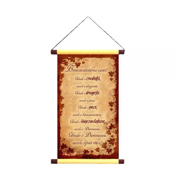 Binecuvântarea casei - Decor Papirus A5