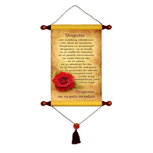 Dragostea - Papirus A4 cu o rețetă simplă și sublimă despre cum să trăim în dragoste. Grija și preocuparea față de ceilalți este o dragoste supremă. Și da se poate.